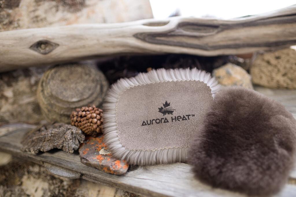 A fur hand warmer